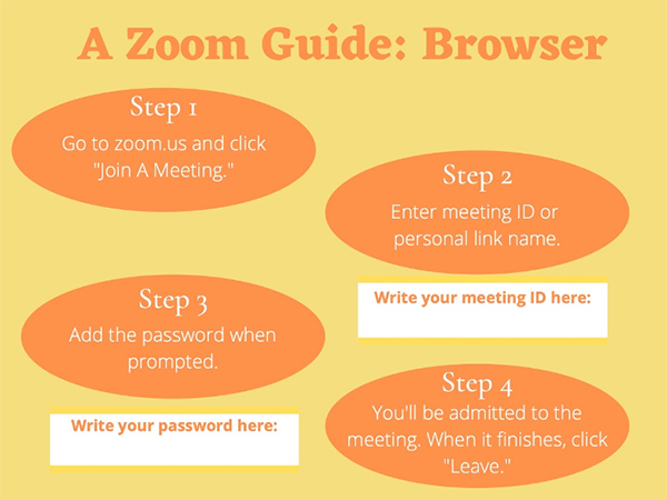 zoom browser guide how to use for conferencing
